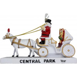 Image of 3D Central Park Carriage White Ornament
