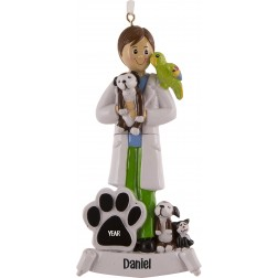 Image of Veterinarian Boy Personalized Christmas Ornament