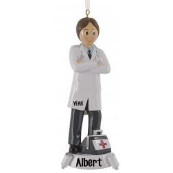 Doctor Boy Personalized Christmas Ornament