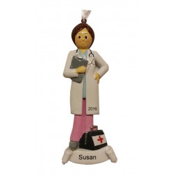 Doctor Girl Personalized Christmas Ornament