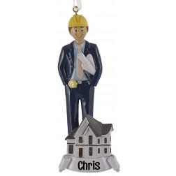 Architect Boy Personalized Christmas Ornament