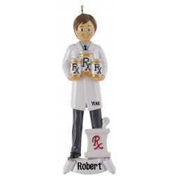 RX Boy Personalized Christmas Ornament