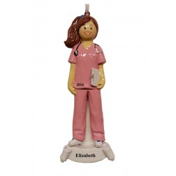 Nurse Girl Personalized Christmas Ornament