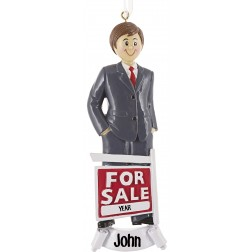 Image of Realtor Boy Personalized Christmas Ornament