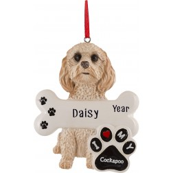 Image of Cockapoo Dog Personalized Christmas Ornament