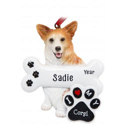 Image of Corgi Dog Personalized Christmas Ornament