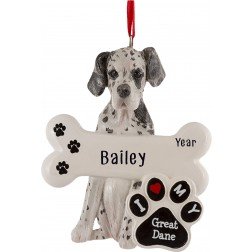 Image of Great Dane Dog Personalized Christmas Ornament