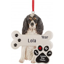 Image of Cavalier King Charles Spanish Dog Personalized Christmas Ornament