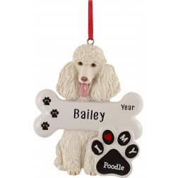 Image of Poodle Dog Personalized Christmas Ornament
