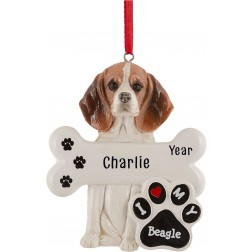 Image of Beagle Dog Personalized Christmas Ornament