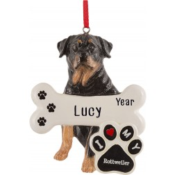 Image of Rottweiler Dog Personalized Christmas Ornament