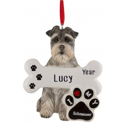 Image of Schnauzer Dog Personalized Christmas Ornament
