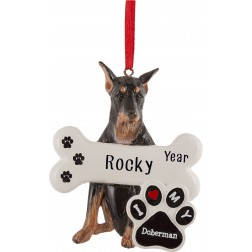 Image of Doberman Dog Personalized Christmas Ornament