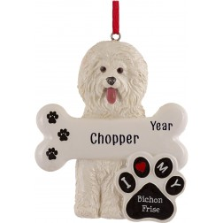 Image of Bichon Frise Dog Personalized Christmas Ornament