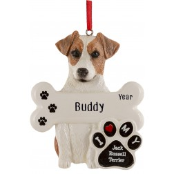 Image of Jack Russell Terrier Dog Personalized Christmas Ornament