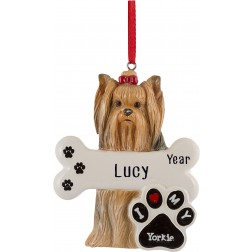 Image of Yorkie Dog Personalized Christmas Ornament