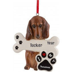 Image of Dachshund Dog Personalized Christmas Ornament