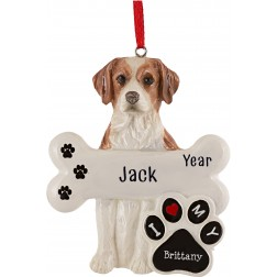 Image of Brittany Dog Personalized Christmas Ornament