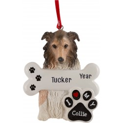 Image of Collie Dog Personalized Christmas Ornament
