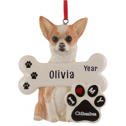 Image of Chihuahua Dog Personalized Christmas Ornament