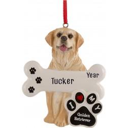 Image of Golden Retriever Dog Personalized Christmas Ornament