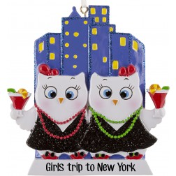 Image of Girls Night Out Owls W2 Personalized Christmas Ornament