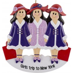 Image of Girlfriends Purple W3 Personalized Christmas Ornament