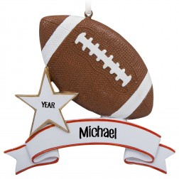 Image of Football Personalized Christmas Ornament