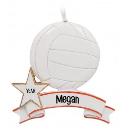 Image of Volleyball Personalized Christmas Ornament