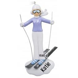 Image of Ski Girl Personalized Christmas Ornament