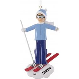 Image of Ski Boy Personalized Christmas Ornament