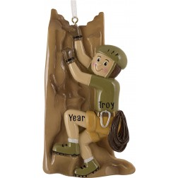 Image of Climber Boy Personalized Christmas Ornament