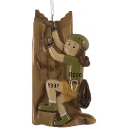 Image of Climber Girl Personalized Christmas Ornament