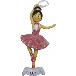 Image of Ballerina Girl Personalized Christmas Ornament