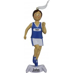 Image of Running Boy Personalized Christmas Ornament