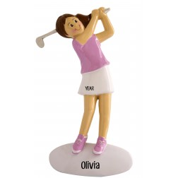 Image of Golf Girl Personalized Christmas Ornament