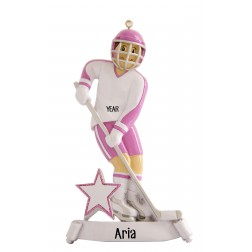 Image of Ice Hockey Girl Personalized Christmas Ornament
