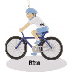 Image of Bicycle Boy Personalized Christmas Ornament