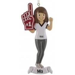 Image of Sport Fan Girl Personalized Christmas Ornament