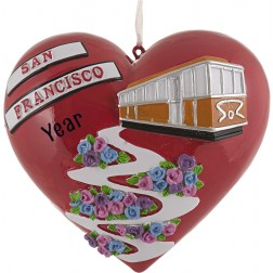Image of San Francisco Lombard Tree Personalized Christmas Ornament