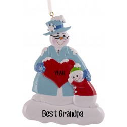 Image of Snow Family Grandpa Personalized Christmas Ornament