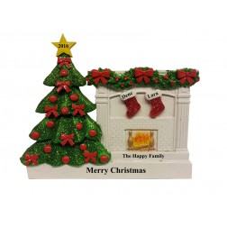 Fireplace Stocking Family Table Top-2