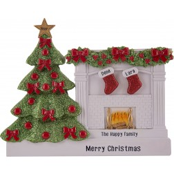 Image for Fireplace Stocking Family Table Top-2