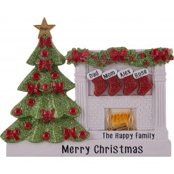 Image for Fireplace Stocking Family Table Top-4
