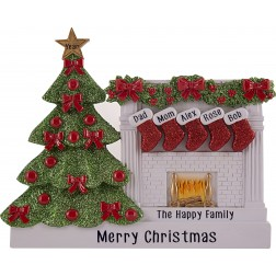 Image for Fireplace Stocking Family Table Top-5