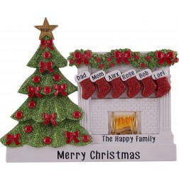 Image for Fireplace Stocking Family Table Top-6