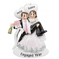 Image for Happy Hour Wedding Couple Personalized Christmas Ornament