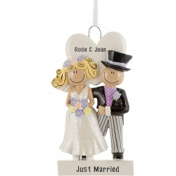 Image for Wedding Couple Personalized Christmas Ornament