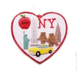 New York City Skape Heart Personalized Christmas Ornament