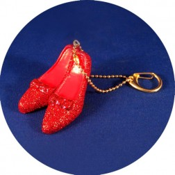 Wizard of Oz Dorothy's Ruby Red Slippers Shoes Keychain Christmas Ornament